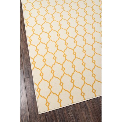 Halliday Yellow/Beige Indoor/Outdoor Area Rug Rug Size: Runner 23 x 76
