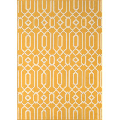 Norris Yellow/White Indoor/Outdoor Area Rug Rug Size: 1'8