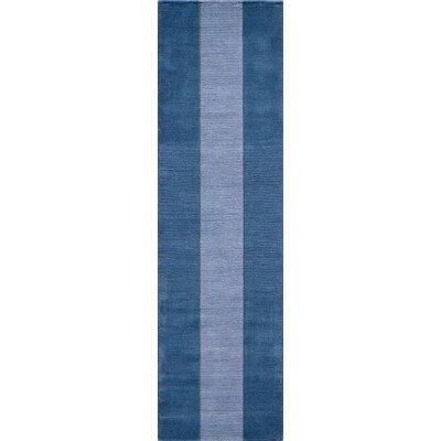 Matson Hand-Tufted Light Blue Area Rug Rug Size: Runner 23 x 8