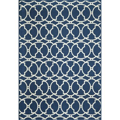 Breakwater Bay Norris Navy Indoor/Outdoor Area Rug II