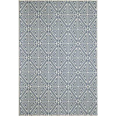 Breakwater Bay Norris Navy Indoor/Outdoor Area Rug
