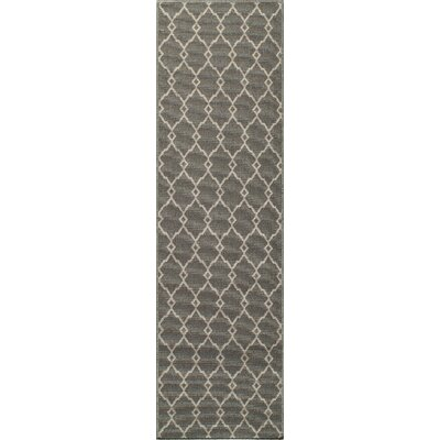 Halliday Gray Area Rug Rug Size: Rectangle 18 x 37