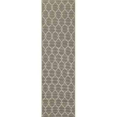 Halliday Taupe Area Rug Rug Size: Rectangle 23 x 46