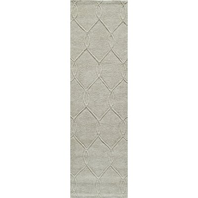 Bassett Hand-Tufted Ivory Area Rug Rug Size: Rectangle 5 x 76