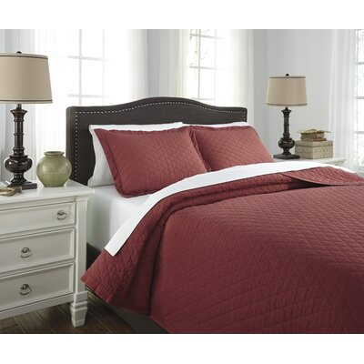 Harvey 3 Piece Quilt Set Size: King, Color: Red