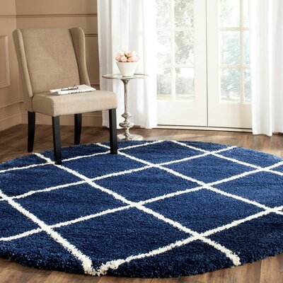 Vinehill Blue Area Rug Rug Size: 51 x 76