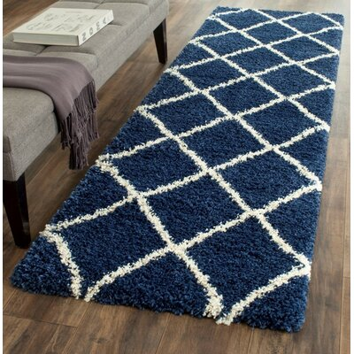 Vinehill Blue Area Rug Rug Size: Runner 23 x 16