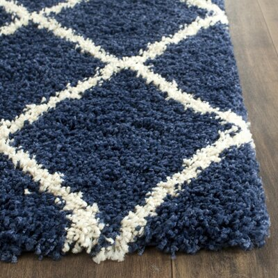 Vinehill Blue Area Rug Rug Size: Square 9