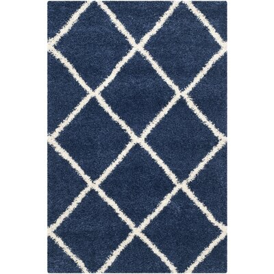 Vinehill Blue Area Rug Rug Size: Rectangle 4 x 6