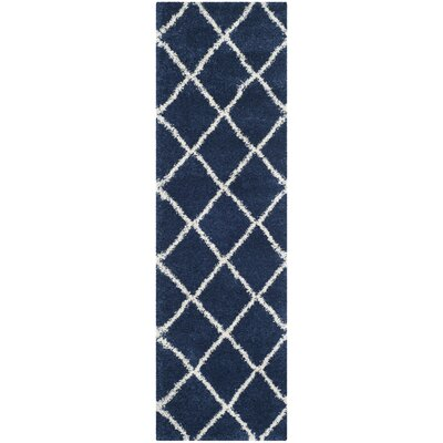 Vinehill Blue Area Rug Rug Size: Runner 23 x 8