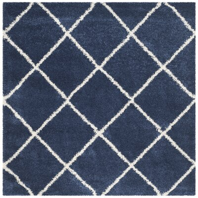 Vinehill Blue Area Rug Rug Size: Square 7