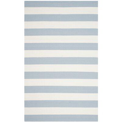 Brookvale Sky Blue/Ivory Area Rug Rug Size: 3 x 5