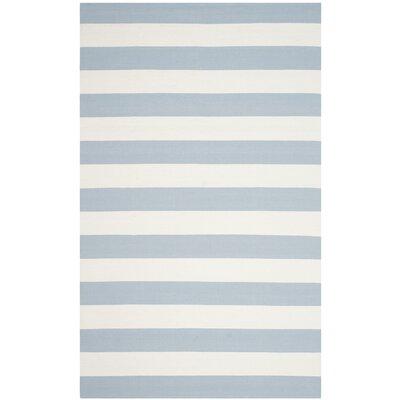 Beechwood Sky Blue/Ivory Area Rug Rug Size: 5 x 8