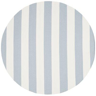 Beechwood Sky Blue/Ivory Area Rug Rug Size: Round 6'