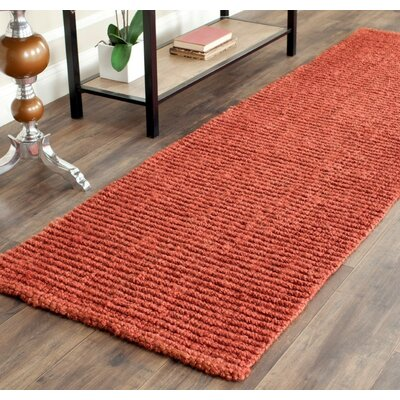 Cavanaugh Hand-Woven Red Area Rug Rug Size: Runner 26 x 8