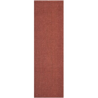 Cavanaugh Hand-Woven Red Area Rug Rug Size: Runner 26 x 12
