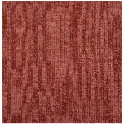 Cavanaugh Hand-Woven Red Area Rug Rug Size: Square 6
