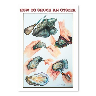 How to Suck an Oyster Graphic Art