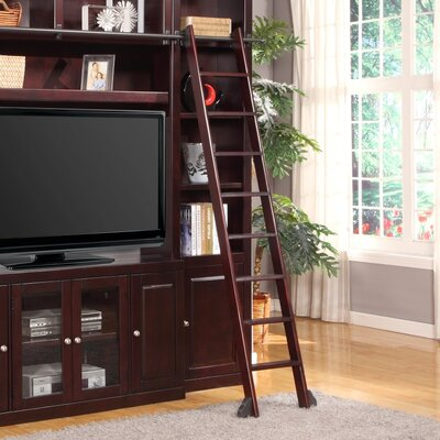 Bromley 7 ft Manufactured Wood Library Rolling Ladder