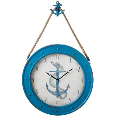 24 Anchor Blue Wall Clock