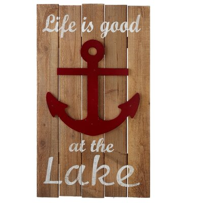 Life is Good at the Lake with Anchor Wood Wall Décor