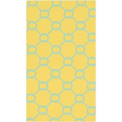 Brigham Lemon/Aqua Area Rug