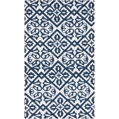 Brigham Navy/White Indoor/Outdoor Area Rug
