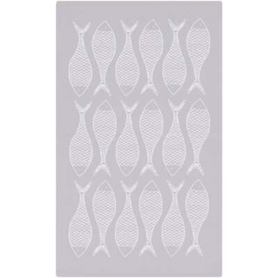 Brigham Lilac/White Indoor/Outdoor Area Rug