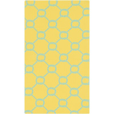 Brigham Bright Yellow/Sky Blue Indoor/Outdoor Area Rug
