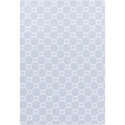 Brigham Pale Blue/White Indoor/Outdoor Area Rug