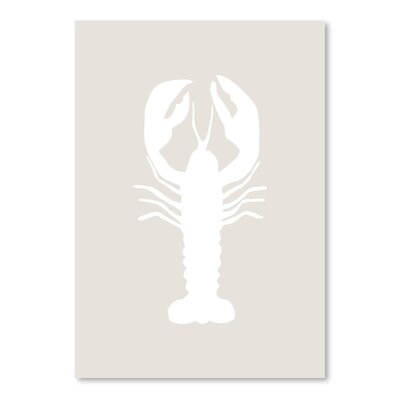 Beige White Lobster Poster Gallery Graphic Art