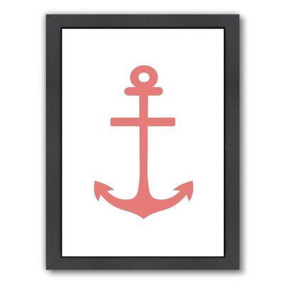 Coral Anchor Framed Graphic Art
