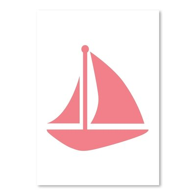 Coral Sailboat Poster Gallery Graphic Art