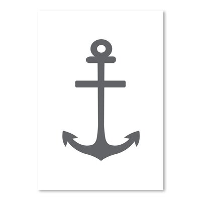 Gray Anchor Poster Gallery Graphic Art
