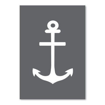 Gray White Anchor Poster Gallery Graphic Art