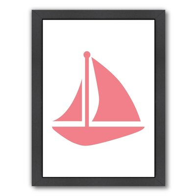 Sailboat Framed Graphic Art Size: 11