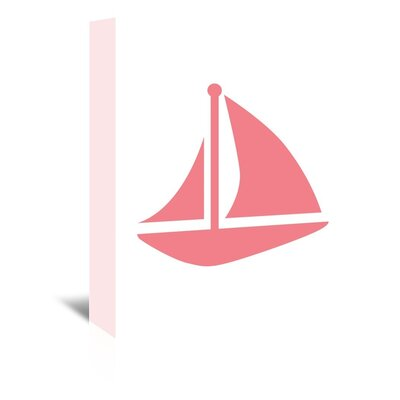 Sailboat Graphic Art on Wrapped Canvas Size: 20