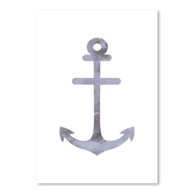 Watercolor Gray Anchor Poster Gallery Graphic Art