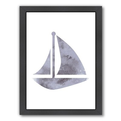 Watercolor Gray Framed Graphic Art Size: 11