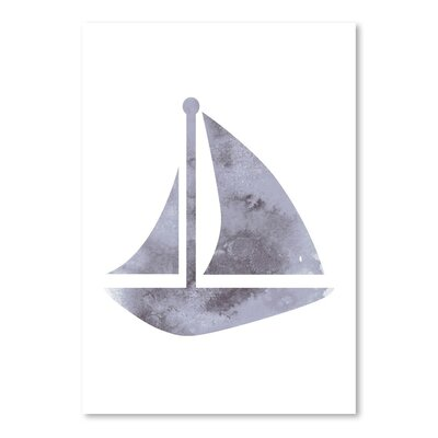 Watercolor Gray Sailboat Poster Gallery Graphic Art