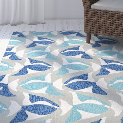 Sereno Traditional Handmade Rectangle Blue Indoor / Outdoor Area Rug Rug Size: Rectangle 76 x 9