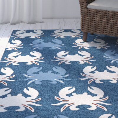Sereno Handmade Navy Indoor / Outdoor Area Rug Rug Size: Rectangle 9 x 12