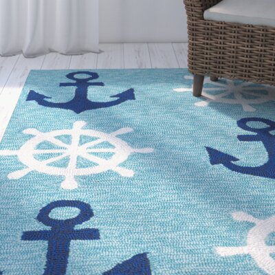 Sereno Traditional Handmade Abstract Indoor / Outdoor Area Rug Rug Size: Rectangle 76 x 9