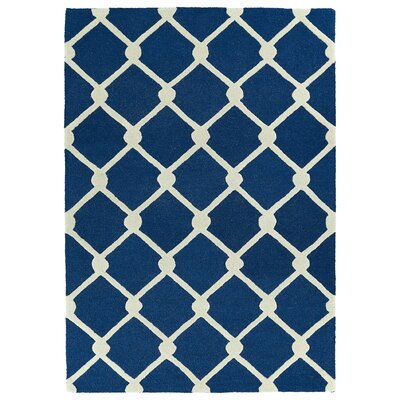 Breakwater Bay Georgetown Handmade Navy Area Rug