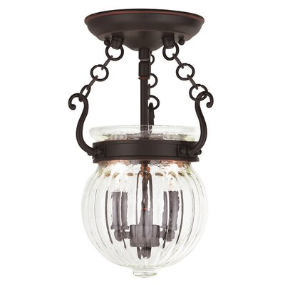 Crestfield 2-Light Foyer Pendant Finish: Olde Bronze