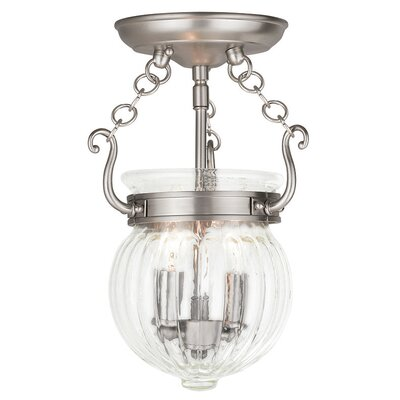 Crestfield 2-Light Foyer Pendant Finish: Brushed Nickel