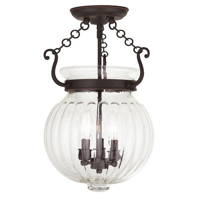Crestfield 3-Light Foyer pendant Finish: Olde Bronze