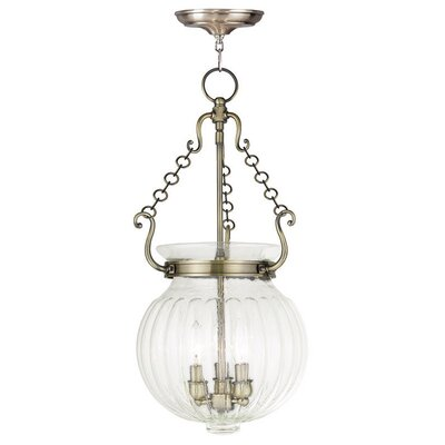 Crestfield 3-Light Foyer pendant Finish: Antique Brass