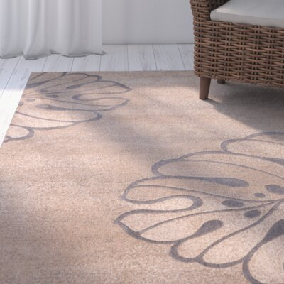 Brentford Beige Area Rug Rug Size: Rectangle 93 x 129