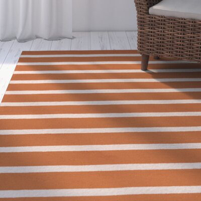 Lyndon Hand-Tufted Orange Indoor/Outdoor Area Rug Size: Runner 26 x 8